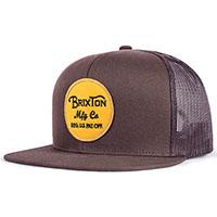 Wheeler Trucker Hat by Brixton- DARK BROWN (Sale price!)