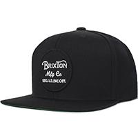 Wheeler Snap Back Hat by Brixton- BLACK (Sale price!)