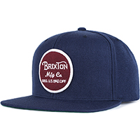 Wheeler Snap Back Hat by Brixton- NAVY (Sale price!)