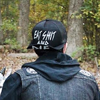 Eat Shit & Die trucker hat by Western Evil