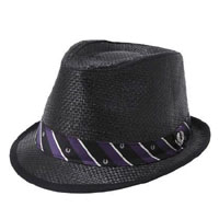 Straw Trilby Hat (BLACK) by Fred Perry (Sale Price)