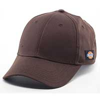 Dickies- Small Side Logo on a BROWN baseball hat