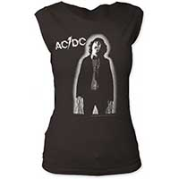 AC/DC- Powerage on a vintage black girls fitted cap sleeve shirt