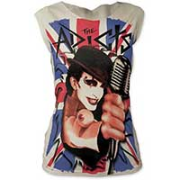 Adicts- Union Jack Monkey on a white fitted cap sleeve girls shirt