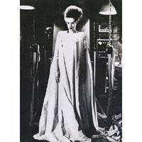 Bride of Frankenstein - Elsa Lanchester full body- She's Alive- Fine Art Print by Annex