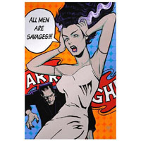 All Men Are Savages Bride & Frankenstein Mike Bell -  Fine Art Print