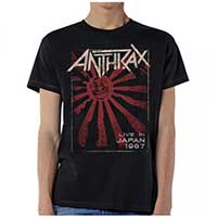 Anthrax- Live In Japan 1987 on a black shirt (Sale price!)
