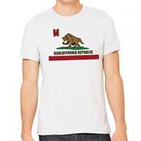Famous Monsters Of FIlmland- Boris Karloff Karloffornia Republic on a white ringspun cotton shirt