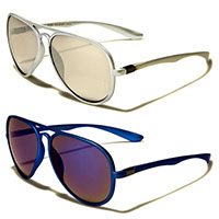 Colored Aviator Mirrored Sunglasses (Various Colors)