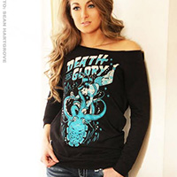 Death or Glory black girls unfinished sweatshirt by Adi & Black Market Art Company