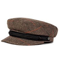 Fiddler Hat by Brixton- GREY PLAID
