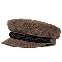 Fiddler Hat by Brixton- GREY PLAID (Sale price!)