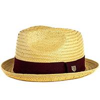 Castor Straw Hat by Brixton- Tan / Dark Brown