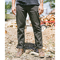 Fleet Rigid 5 Pocket Relaxed Fit Button Fly Pant by Brixton- Washed Black (Sale price!)