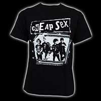 Cheap Sex- ZIpper Band Pic on a black shirt