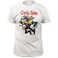 Circle Jerks- Thrashers on a white ringspun cotton shirt
