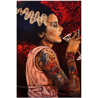 Cocktail Bride Mike Bell -  Fine Art Print