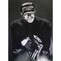 Frankenstein - Deep Thoughts - Boris Karloff - Full Body Fine Art Print by Annex