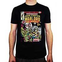 Marvel Comics- John Carter on a black ringspun cotton shirt