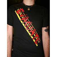 Evacuate- Logo on a black shirt (Sale price!)