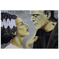 Flirtationship Bride & Frankenstein Mike Bell -  Fine Art Print