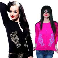 Swallows Cardigan by Toxico - SALE in Pink only sz SM