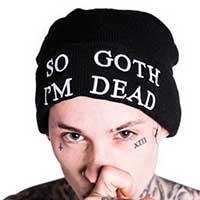 So Goth Knit Hat / Beanie by Killstar - SALE