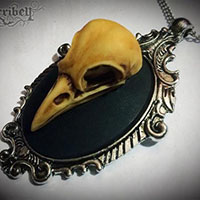 Bird Skull Necklace by Horribell