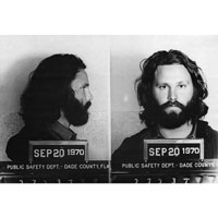 Jim Morrison Mug Shot - Fine Art Print by Annex