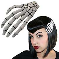 Skeleton Hands Hair Clips by Kreepsville 666 - 3 color choices