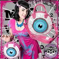 Eyeball Vinyl Bag by Kreepsville 666 - Pink