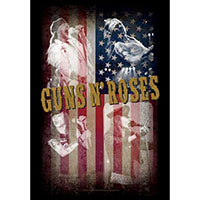 Guns N Roses- Flag Collage Fabric Poster/Wall Tapestry