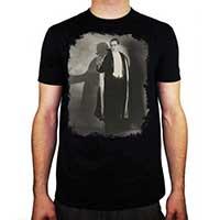 Dracula- Standing on a black ringspun cotton shirt