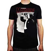 Famous Monsters Of Filmland- Dracula Attack on a black ringspun cotton shirt