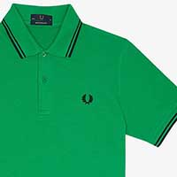 Fred Perry Classic Fit Twin Tipped Polo Shirt- ISLAND GREEN (Sale price!)