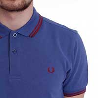 Fred Perry Classic Fit Twin Tipped Polo Shirt- DUSK (Sale price!) sz S only