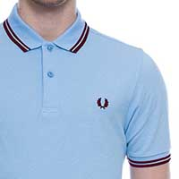 Fred Perry Slim Fit Polo Shirt- SOFT BLUE (Sale price!)