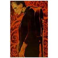 Man in Black Frankenstein Mike Bell -  Fine Art Print