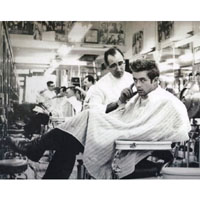 James Dean-  Missed a Spot - Fine Art Barber Print by Annex
