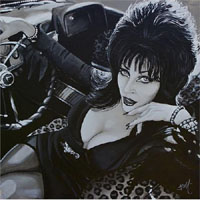 Elvira Mistress of the Dark Mike Bell -  Fine Art Print