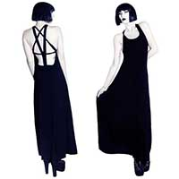 Pentagram Back Maxi Dress by Killstar - SALE sz XS & M only