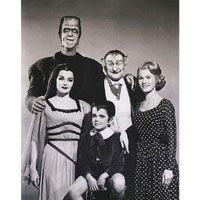 The Munsters - Perfect Family Portrait-  Fine Art Print by Annex