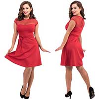Madeline Only Hearts Dress By Steady Clothing - in Red - SALE