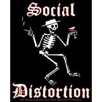 Social Distortion- Skeleton sticker (st452)