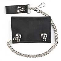 Skull Snaps Wallet (Comes With Chain)