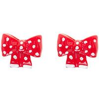 Stud Post Earrings by Sourpuss- Polka Dot Bows - SALE