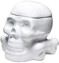 White Skull Cookie Jar by Sourpuss