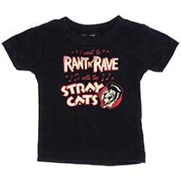 Stray Cats Rant N Rave Kids T-shirt by Sourpuss - on black - SALE