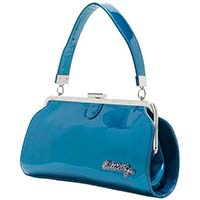 Bettie Page Cover Girl Purse by Sourpuss - in Blue - SALE
