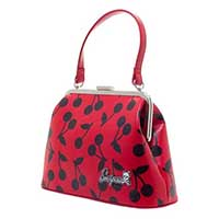 Betsy Cherry Print Kisslock Purse by Sourpuss - in Red - SALE